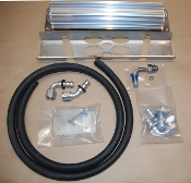-8 TJ Steering Cooler Kit w/V-Bar Bracket, Hose and Fittings